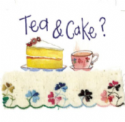 Alex Clark Art - Greeting Card - Little Sparkles - Tea & Cake